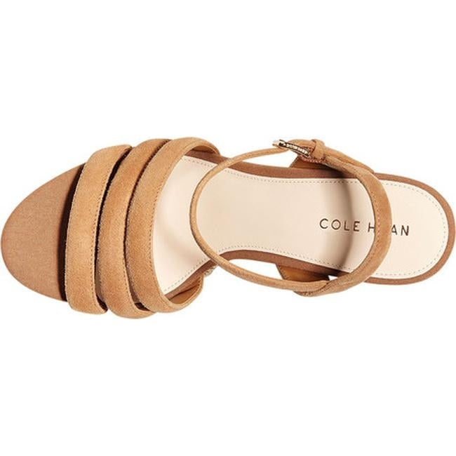6c4de8b87ad06 Shop Cole Haan Women's Jasmine Espadrille Strappy Wedge Sandal Pecan Suede  - On Sale - Free Shipping Today - Overstock - 27585339