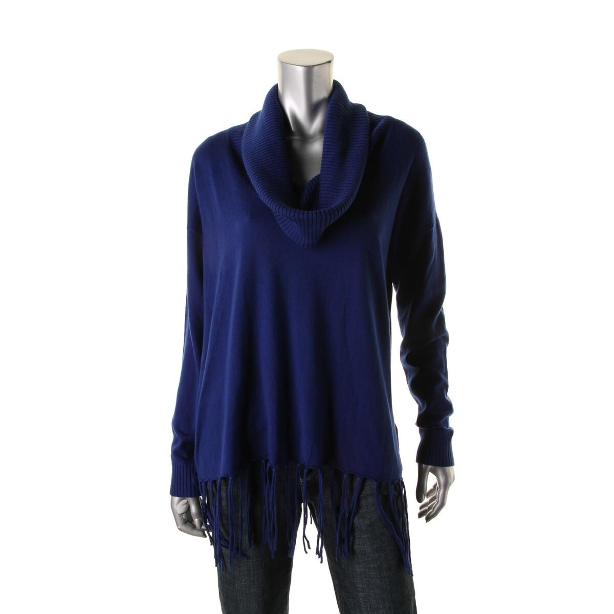 0036ef2f2e59 Shop MICHAEL Michael Kors Womens Pullover Sweater Knit Fringe - Free  Shipping On Orders Over  45 - Overstock.com - 13139247