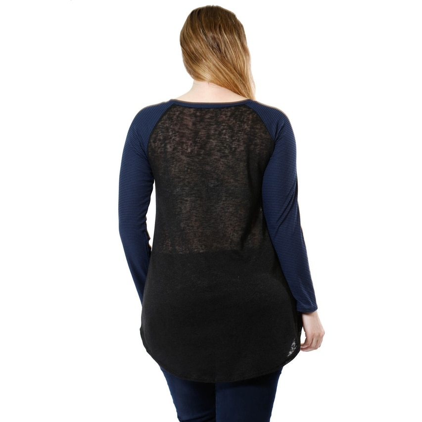 a1987d7ce4fc Shop Women's Glitter Pocket Long Sleeve Mesh Shirt Plus Size (XL-3X) - Free  Shipping On Orders Over $45 - Overstock - 19428610