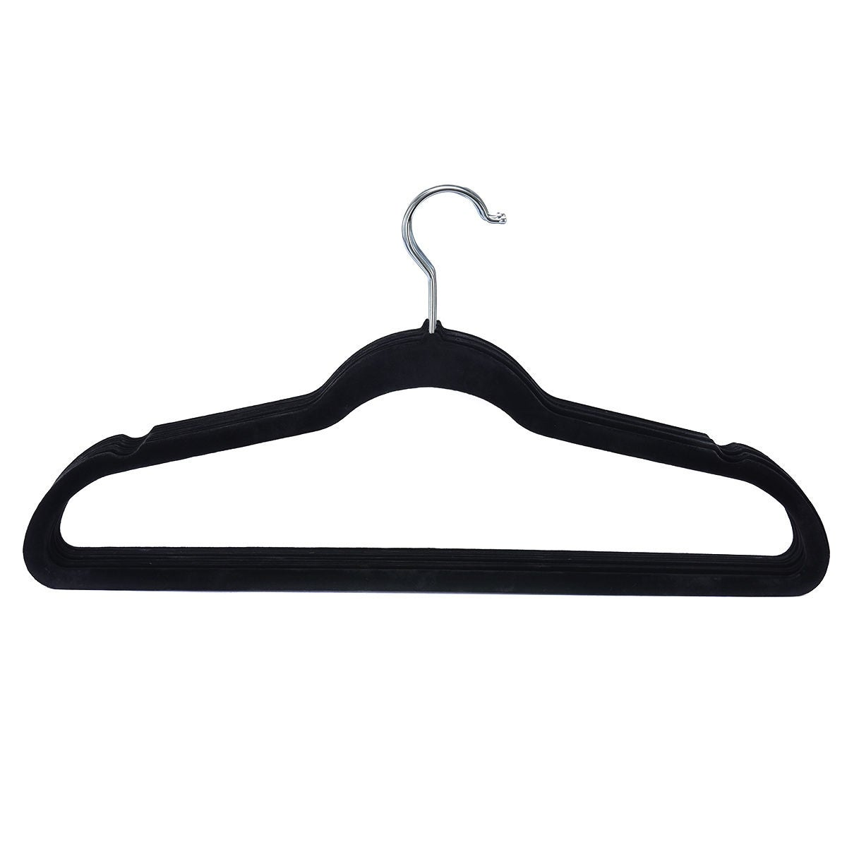 Costway 100pcs Velvet Clothes Suit Shirt Pants Hangers Hook Non Slip Storage Organize Black Free Shipping Today 16399324