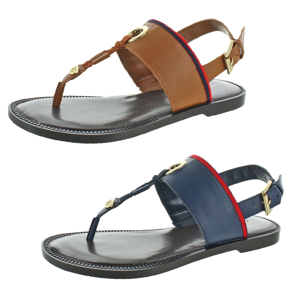4ea7c5f4cd937f Shop Tommy Hilfiger Deara 2 Women s Thong T-Strap Sandals - Free Shipping  On Orders Over  45 - Overstock - 20249318