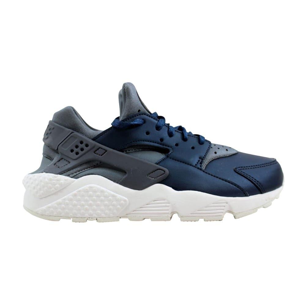 4648a508e099 Nike Air Huarache Run Premium TXT Cool Grey Metallic Armory Navy AA0523-001  Women s