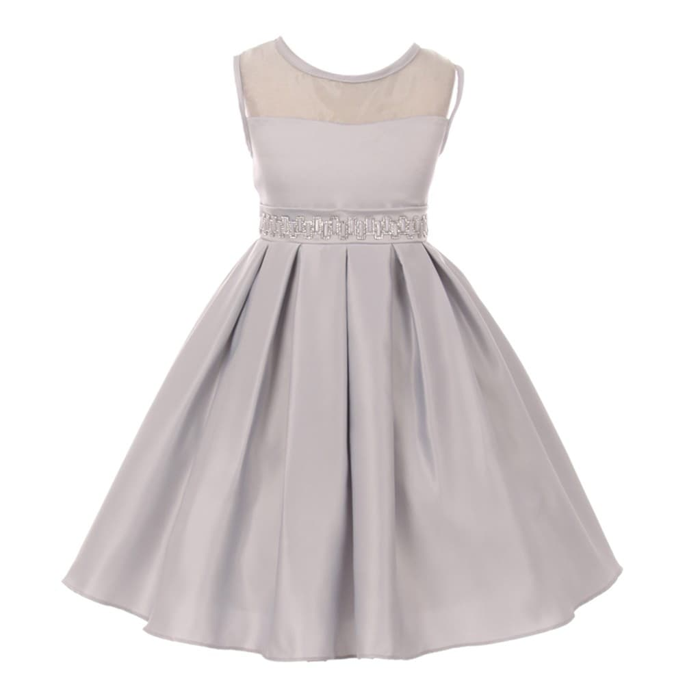 06476e5e7 Silver Flower Girl Dresses | Saddha