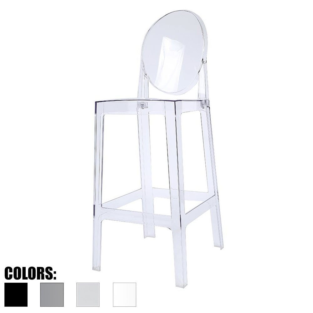2xhome Clear 30 Seat Height Barstool Modern Plastic Side Bar Stool Counter Accent Lounge No Arms Armless Free Shipping Today