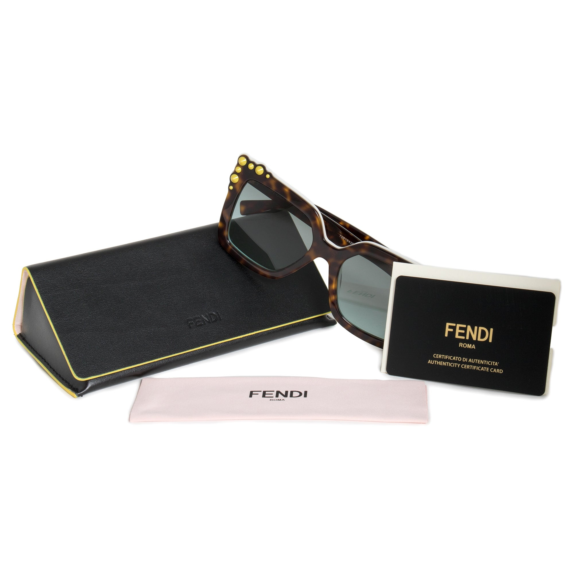 a826427ef31f5 Shop Fendi Can Eye Square Sunglasses FF0260S C9K EQ 52 - Free Shipping Today  - Overstock - 19623072