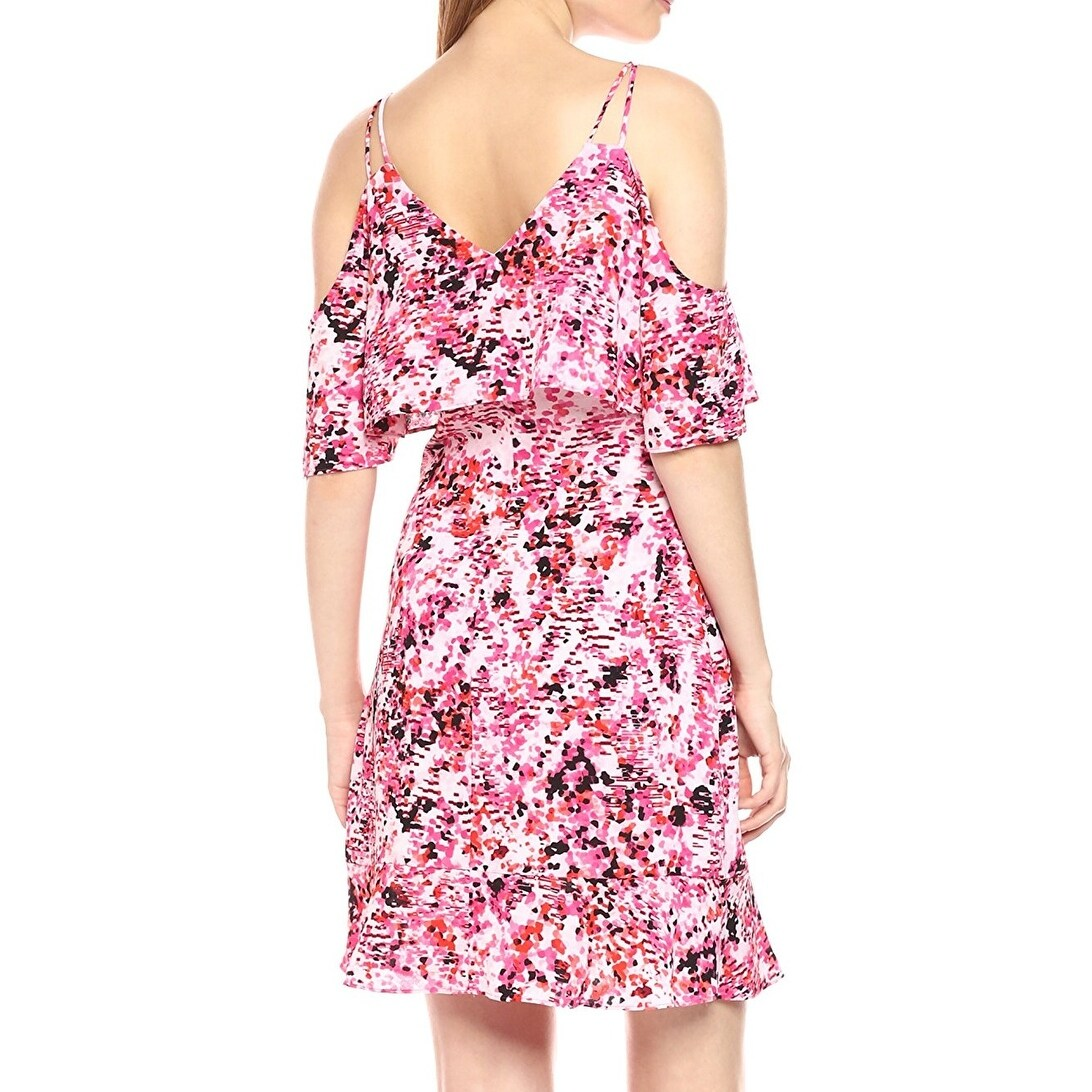 Shop Jessica Simpson NEW Pink Women Size 6 Printed Cold-Shoulder ...