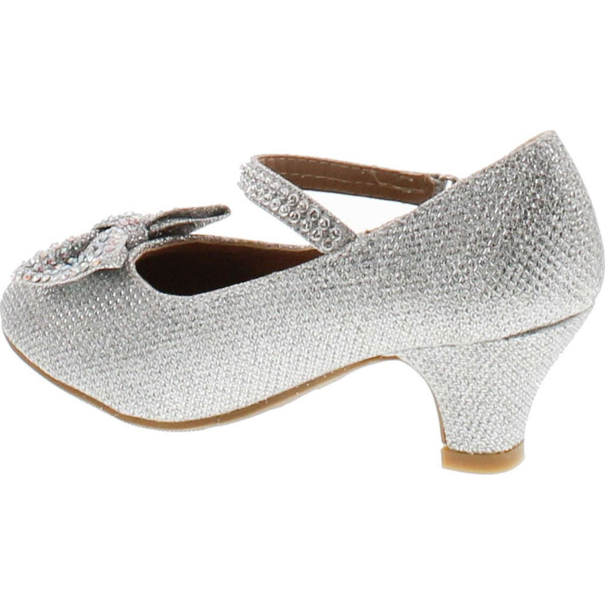 2417c194cb1a Shop Link Justice-05K Girls Peagent Ball Party Wedding Medium Height Dress  Heels - Silver - Free Shipping On Orders Over  45 - Overstock - 14756531