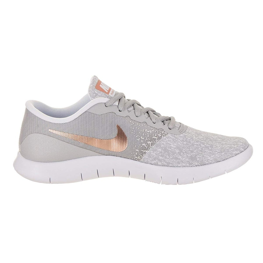 5151d6165080 Shop Nike Womens Flex Contact Wolf Grey Mtlc Rose Gold Running Shoe 7.5  Women Us - Free Shipping Today - Overstock - 25592533