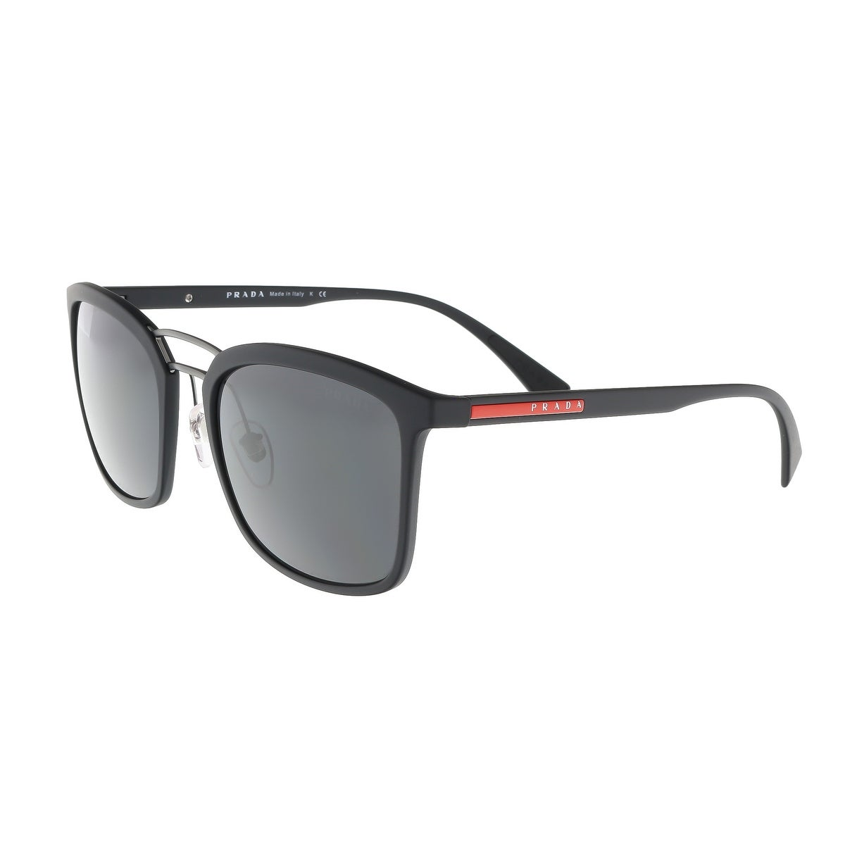 87c2512434cd Shop Prada PS 03SS DG05S0 Black Rubber Square Sunglasses - 56-21-140 - Free  Shipping Today - Overstock - 17646155