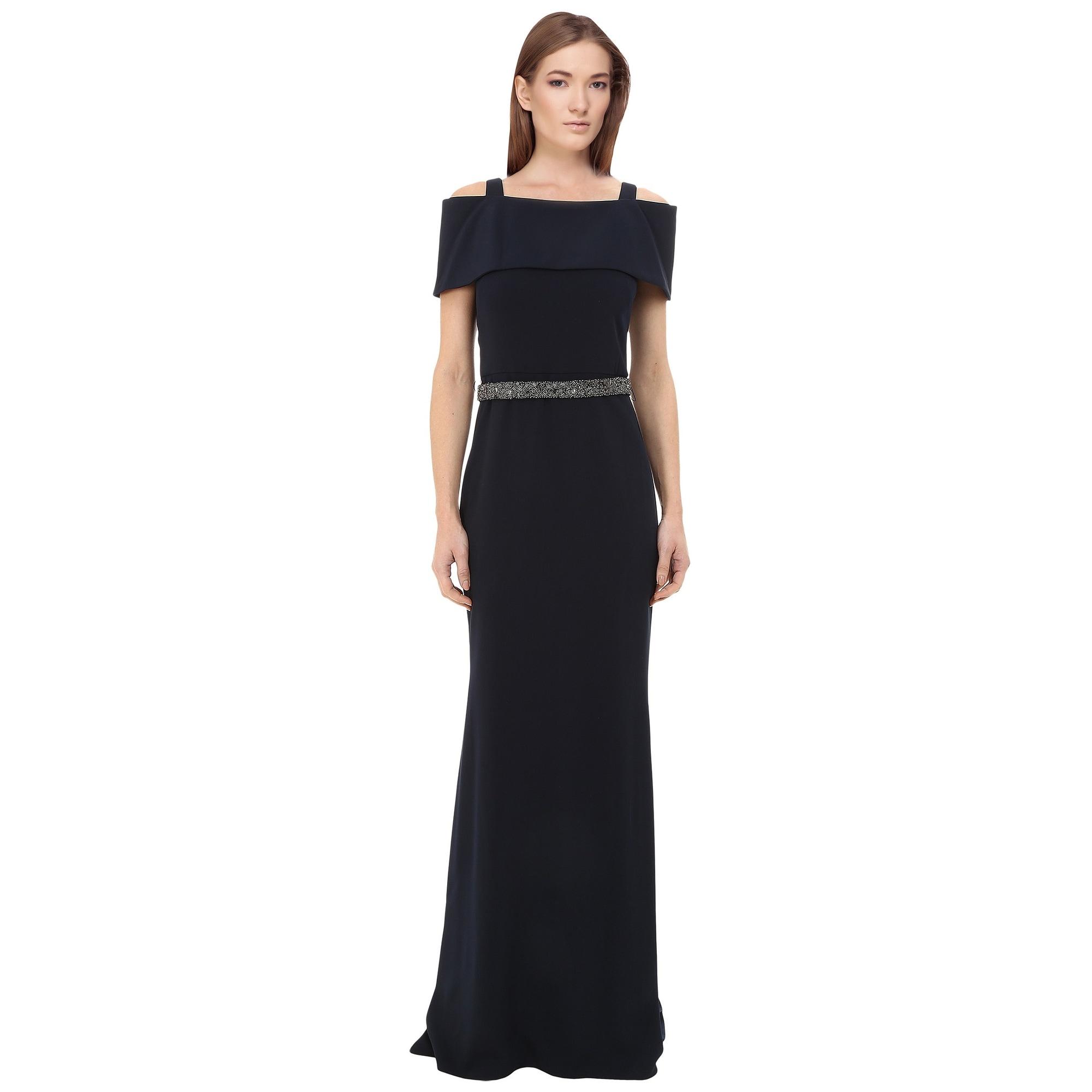 3895bf376487 Shop Badgley Mischka Off Shoulder Beaded Waist Evening Gown Dress ...