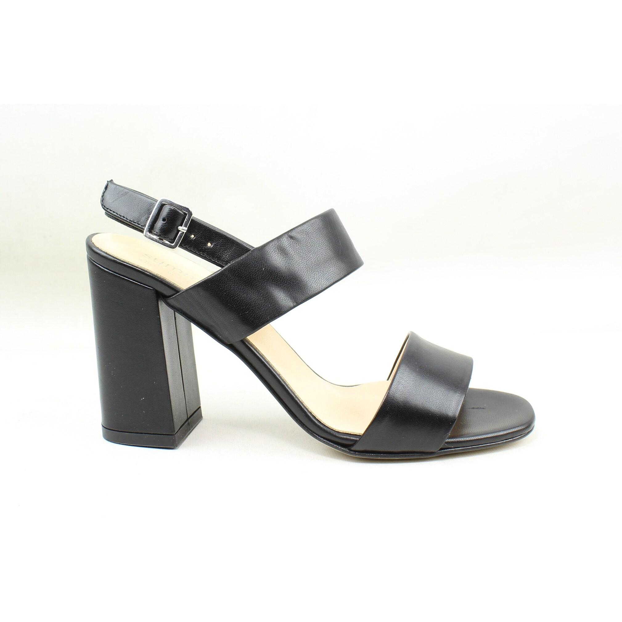 Shop Summit Womens Morna Black Leather Slingbacks EUR 38 - Free ... af79f14c683c