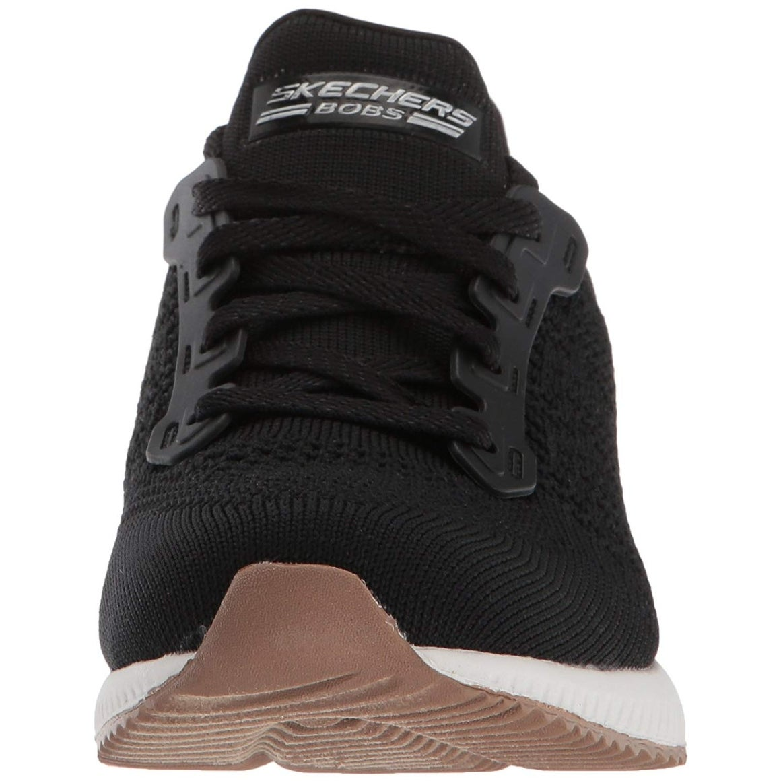 a29de2eb6d2eb Skechers Bobs Womens Squad-Open Weave Sneaker, Black