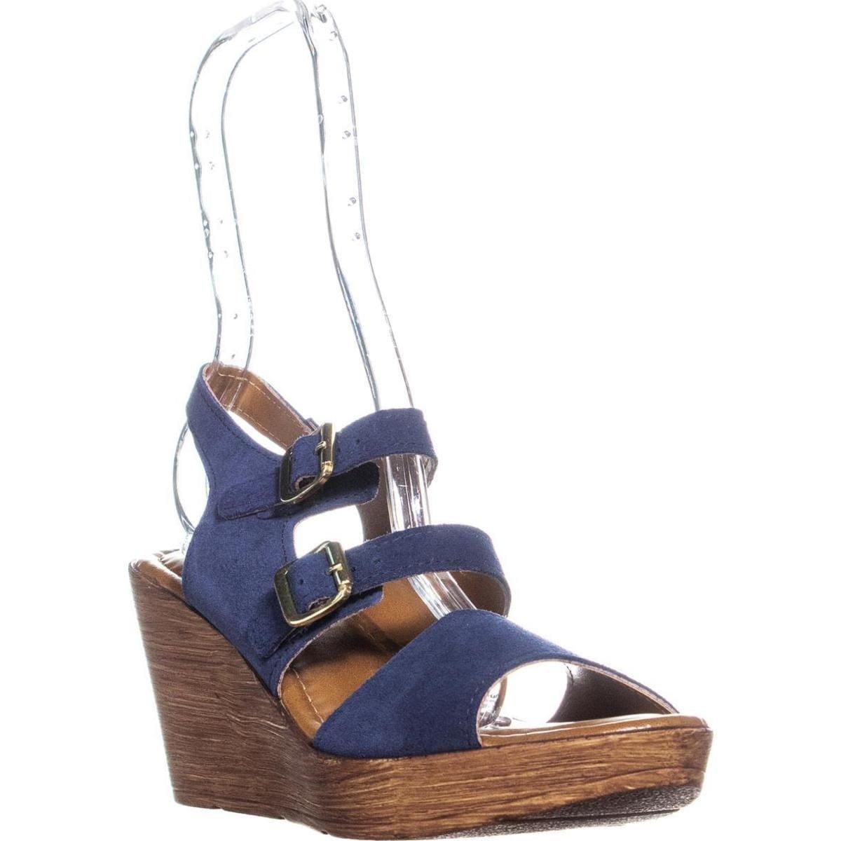 5536f91468e38 Shop Bella Vita Ani-Italy Double Buckle Peep Toe Wedge Sandals