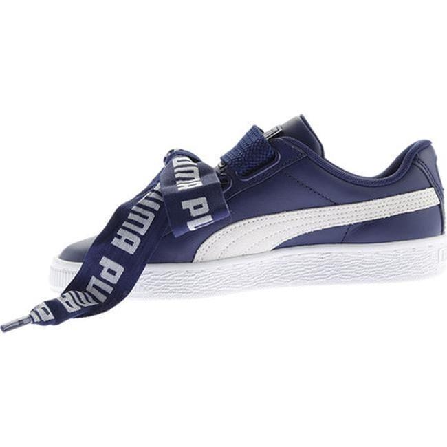 Shop PUMA Women s Basket Heart DE Sneaker Blue Depths PUMA White - Free  Shipping Today - Overstock - 17366834 9582fa177