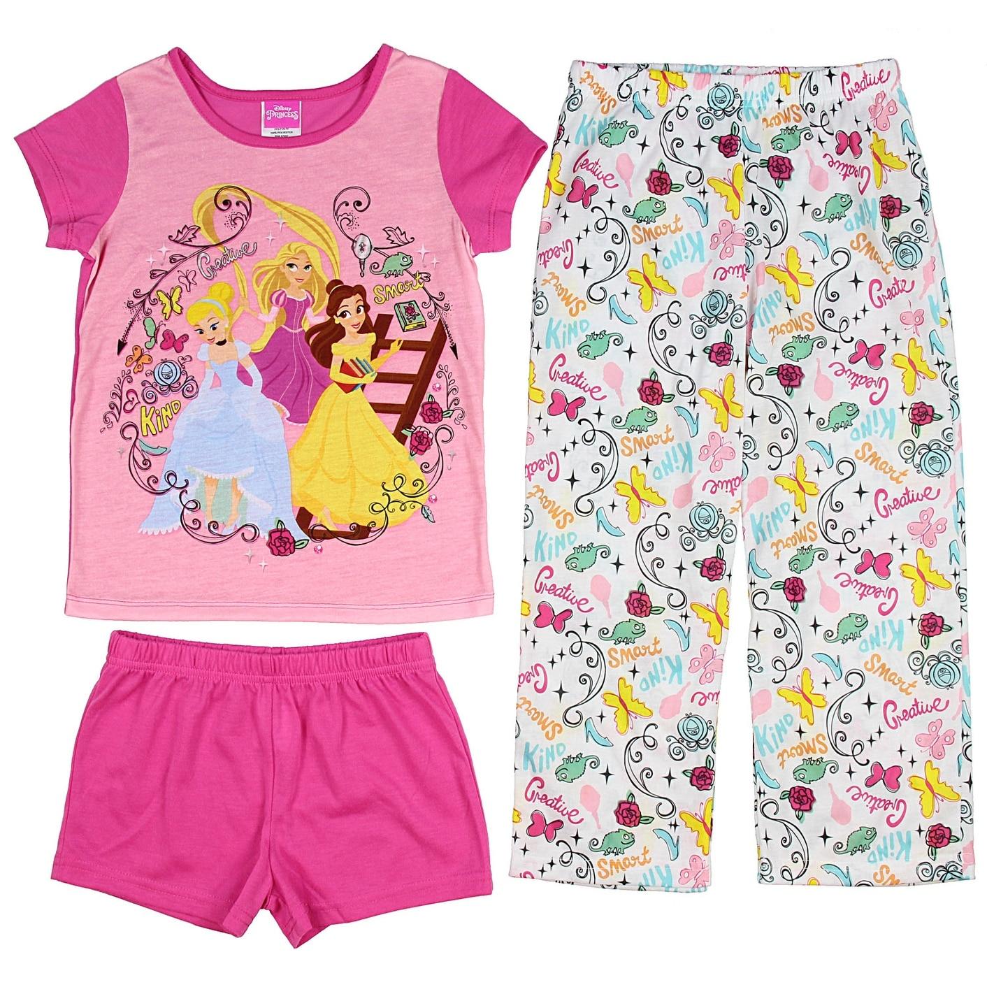 Shop Disney Princess Girls\' Belle Cinderella And Rapunzel 3-Piece ...