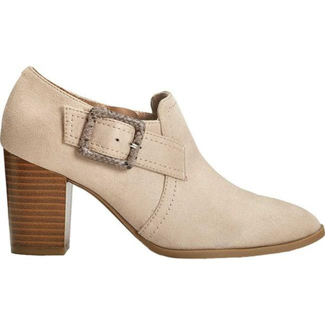 83a9af85b466 Shop A2 by Aerosoles Women s Wallflower Ankle Bootie Bone Faux Suede Faux  Leather - Free Shipping On Orders Over  45 - Overstock.com - 25321348