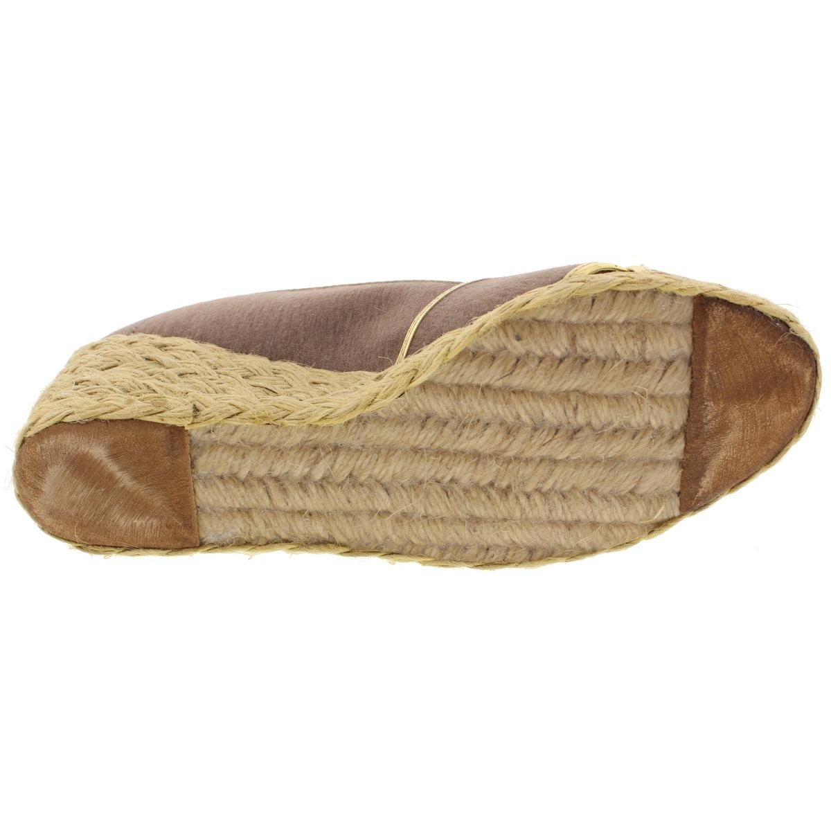 e90ed2a1dc52 Shop Lauren Ralph Lauren Womens Cecilia II Wedge Sandals Espadrille  Metallic Trim - 8.5 medium (b