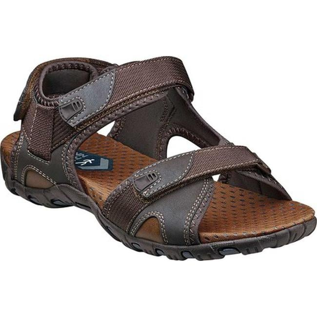 8e06a0f87 Nunn Bush Men s Rio Bravo Three Strap River Sandal Brown Synthetic