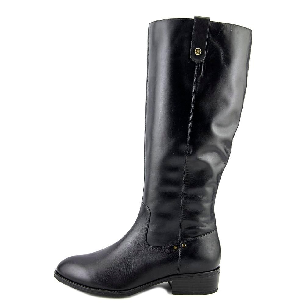 8c8ac21cb Shop Lauren Ralph Lauren Masika Women Round Toe Leather Black Knee High Boot  - Free Shipping Today - Overstock - 18024678