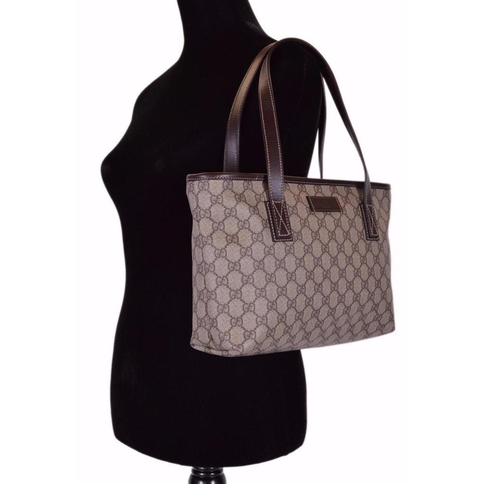 2befb70e4899 Shop Gucci 211138 GG Supreme Canvas Medium Zip Top Handbag Purse Tote - 14