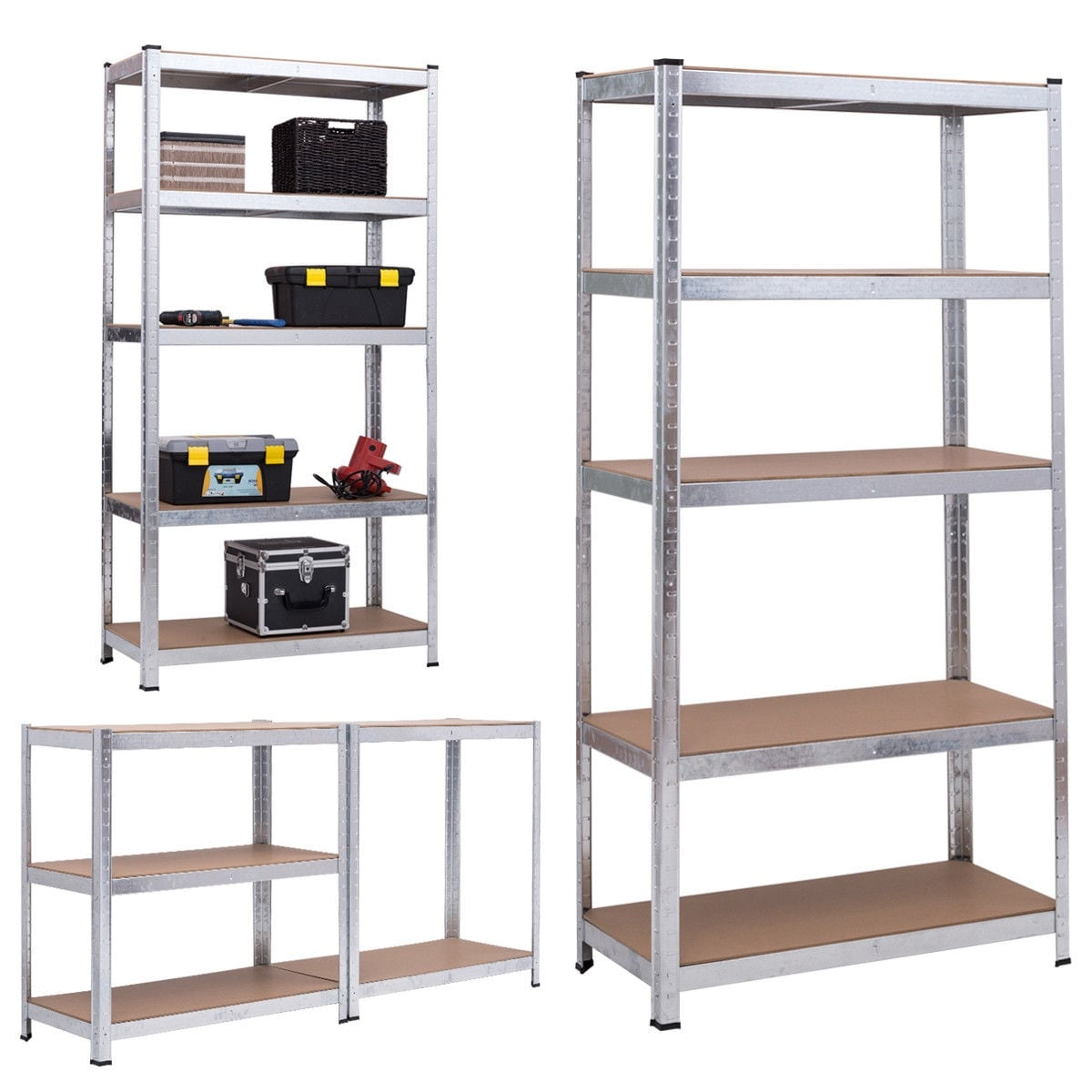 shop gymax 71 heavy duty storage shelf steel metal garage rack 5 level adjustable shelves as pic on sale free shipping today overstockcom - Heavy Duty Storage Shelves