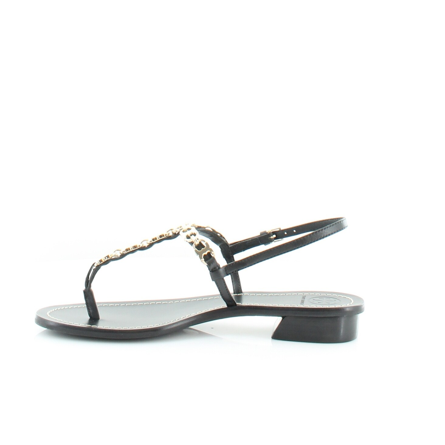 6c3f91dd3502 Shop Tory Burch Gemini Link T Strap Women s Sandals   Flip Flops Black -  Free Shipping Today - Overstock - 21551417