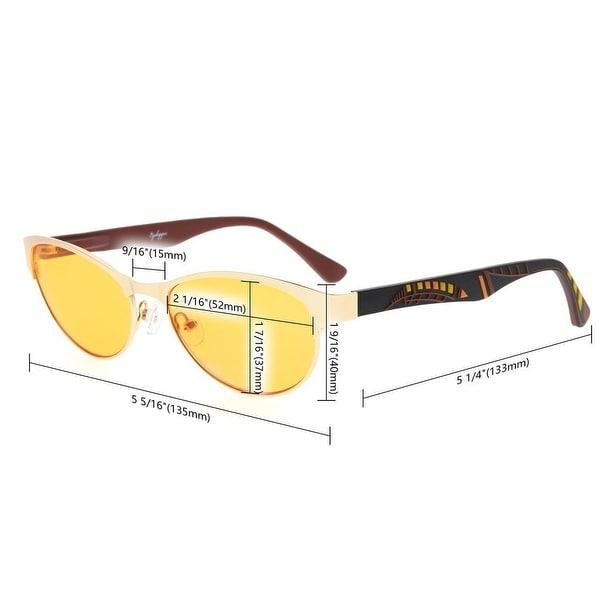 d1c236ae7733 Shop Eyekepper Computer Glasses UV400 Reduces Eyestrain-96.9% Blue Light  Blocking Orange Tinted Lens(Blue,+1.50) - Free Shipping On Orders Over $45  ...