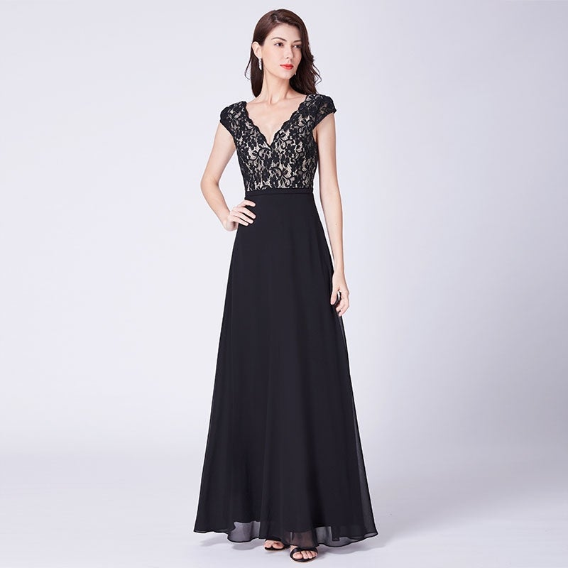 6862896cdc35 Shop Ever-Pretty Women's A-Line Lace V Neck Long Formal Evening Party Maxi  Dress 07344 - Free Shipping Today - Overstock - 27746535