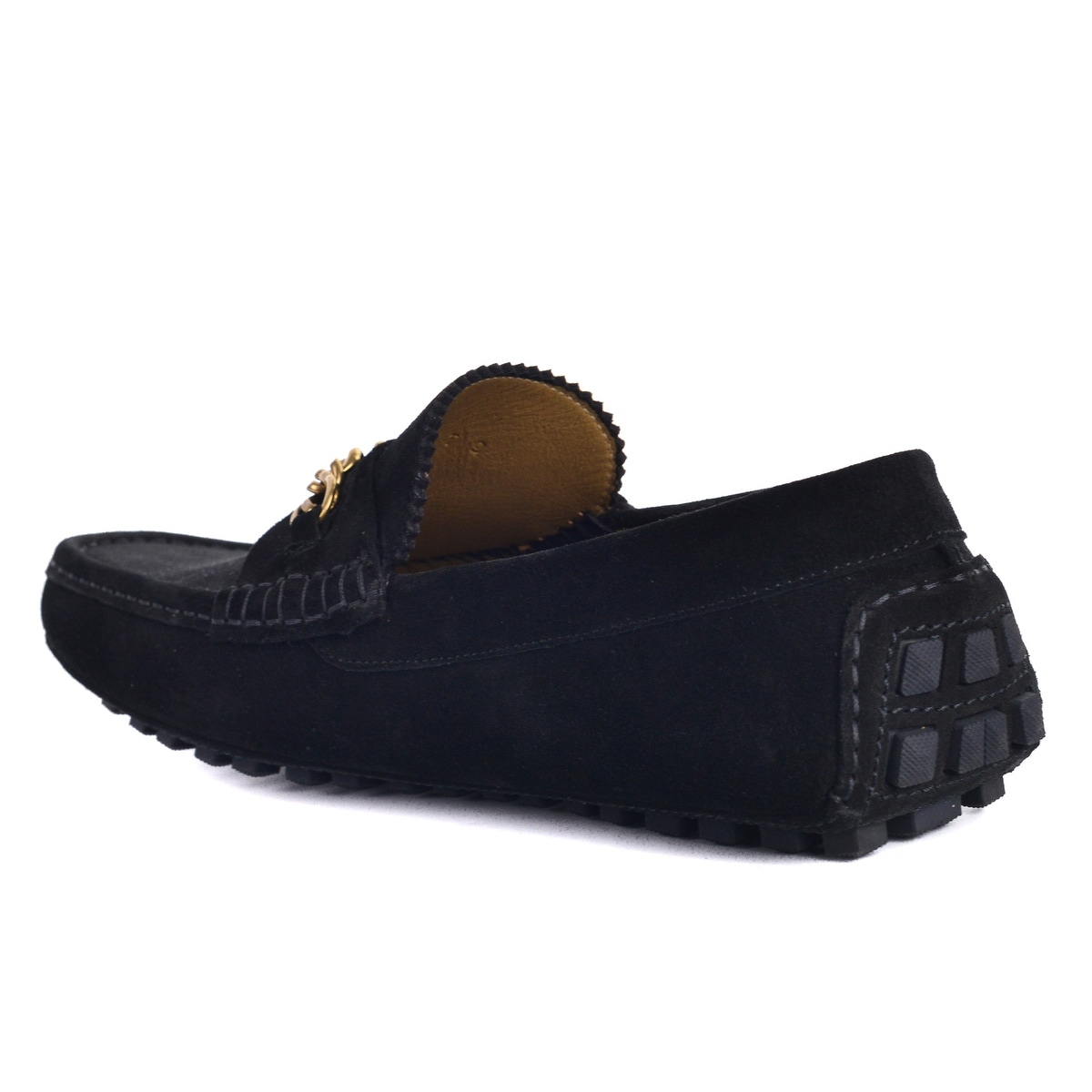 0a47ecccb Shop Tom Ford Mens Black Suede York Chain Driver Loafers - Free Shipping  Today - Overstock - 26397615