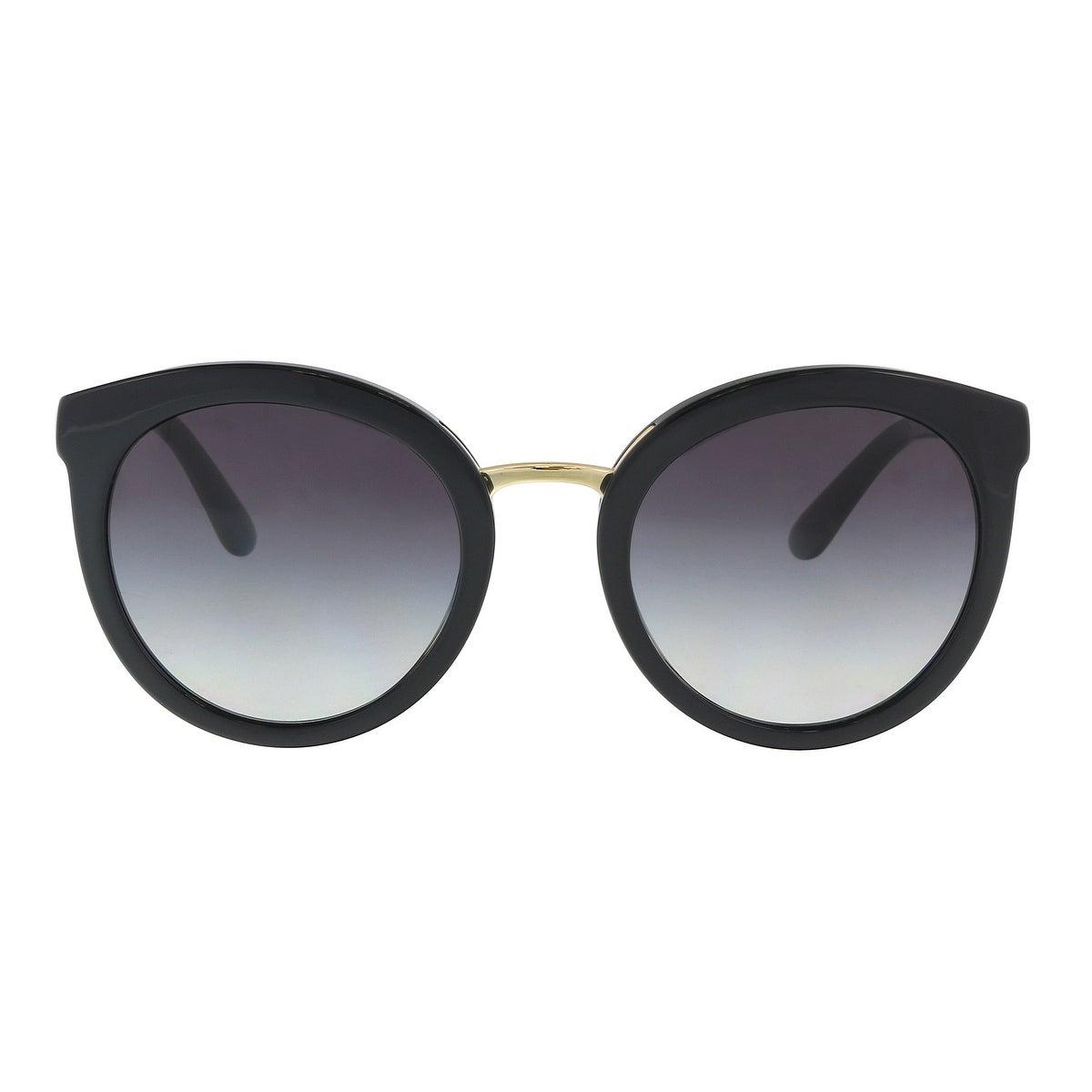8df2eff6fa3 Shop Dolce   Gabbana DG4268 501 8G Black Cat Eye Sunglasses - 52-22-140 -  On Sale - Free Shipping Today - Overstock - 21158291