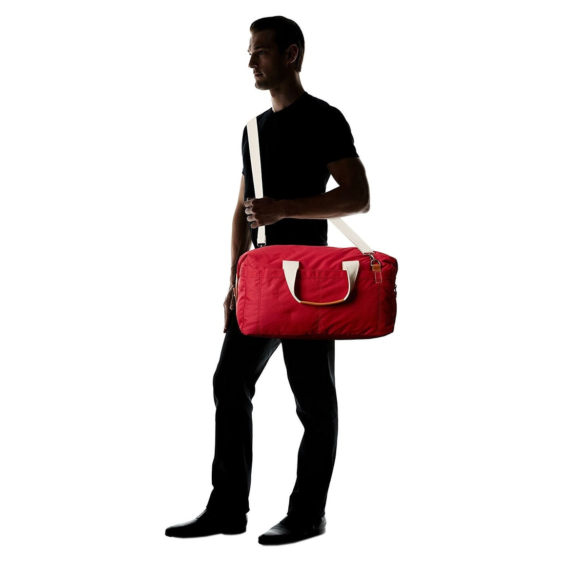 bb942a4858 Shop J. FOLD Montreal Men s Nylon Duffel Bag Red Solid One Size - Free  Shipping On Orders Over  45 - Overstock.com - 14357757