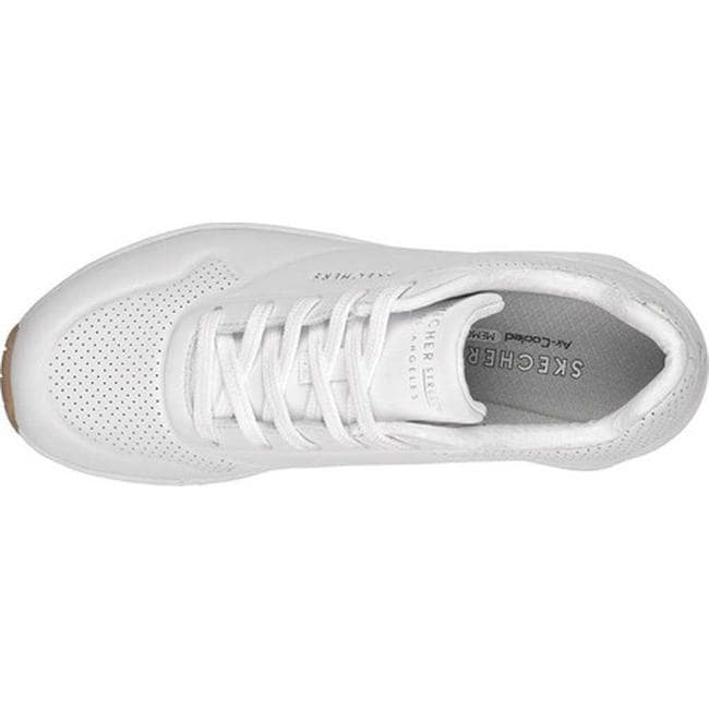 b281bbaa236d Shop Skechers Women s Uno Stand on Air Sneaker White - On Sale - Free  Shipping Today - Overstock - 19552657