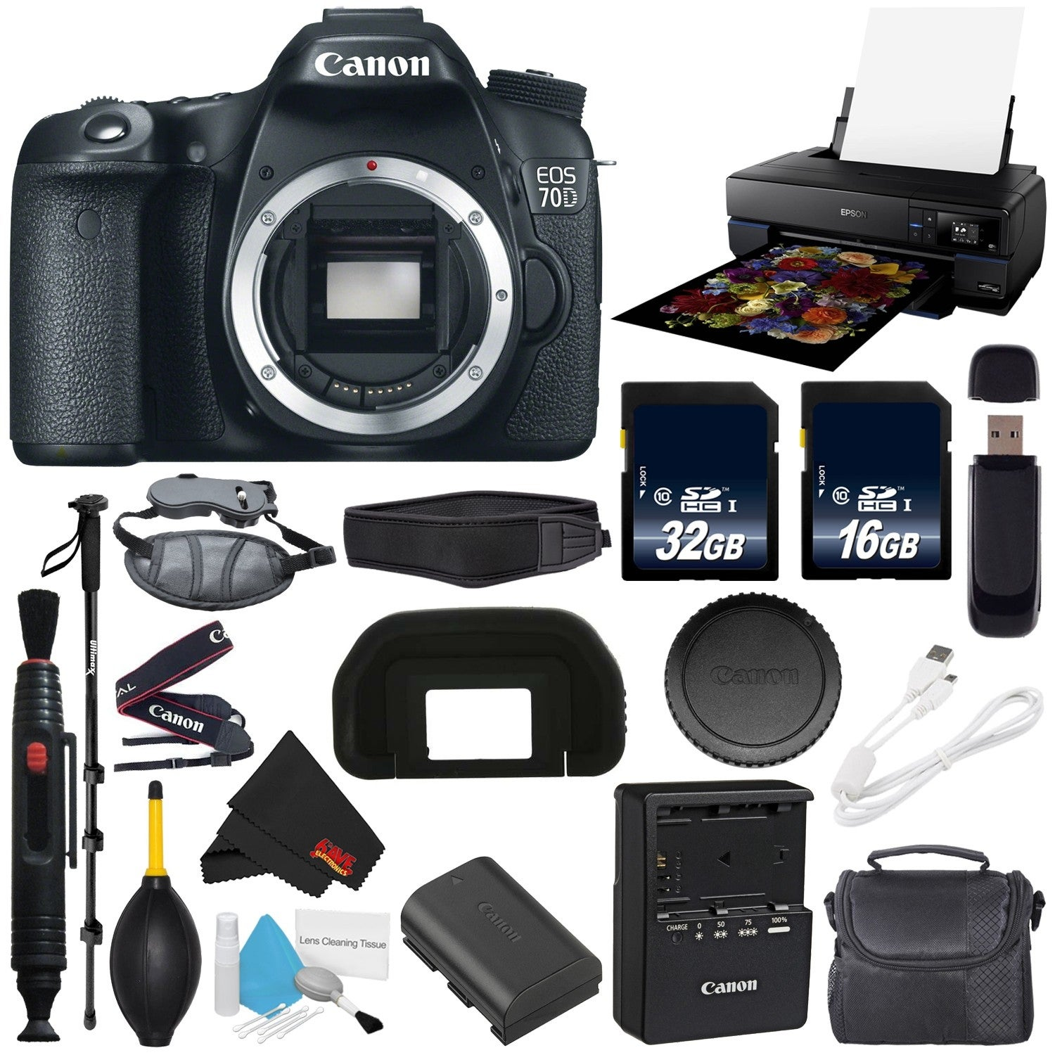 Canon EOS 70D DSLR Camera (Body Only) International Version (No ...