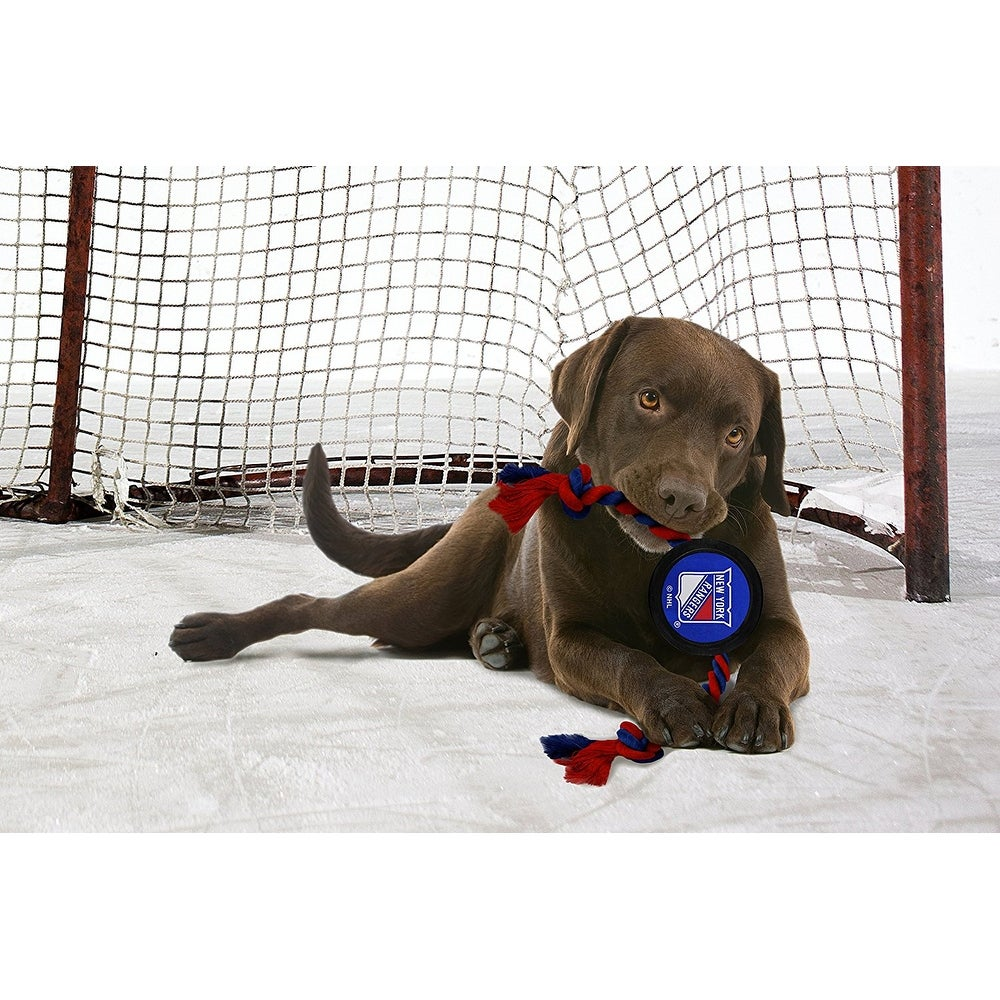 Shop New York Rangers Pet Hockey Puck Toy - On Sale - Free Shipping On  Orders Over  45 - Overstock - 19859981 7e60497de