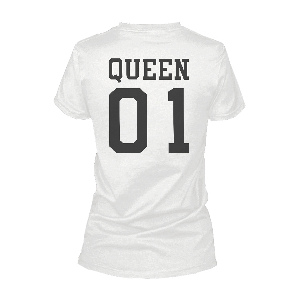 45a383d953c8 Shop 365 Printing King 01 And Queen 01 Matching T-shirts Cute White Couple  Shirts - Free Shipping On Orders Over $45 - Overstock - 17862770