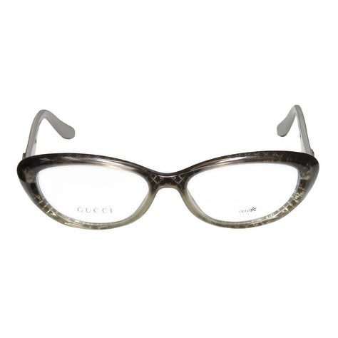 7f092ca886 Shop Gucci Womens Eyeglasses 3566 W9R 16 Plastic Oval Grey Silver Frames -  Free Shipping Today - Overstock - 13372381