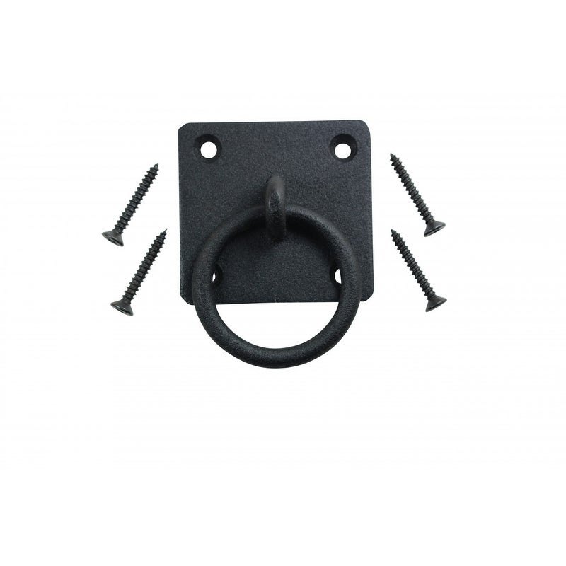 Shop 6 Black Cast Iron Ring Pulls Rustproof Finish Cabinet Hardware   Free  Shipping On Orders Over $45   Overstock   14054895