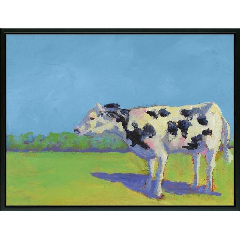 Easy Art Prints Carol Young's 'Cow Pals III' Premium Canvas Art