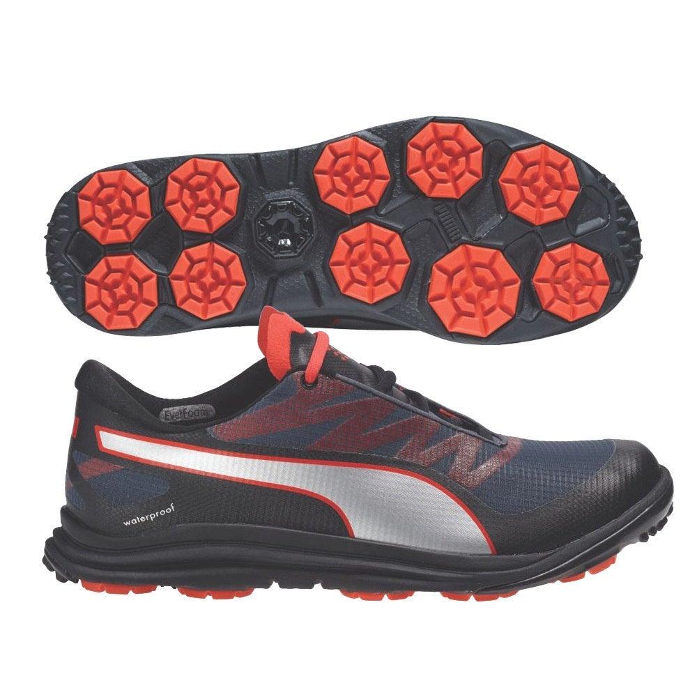 e7538a67b7c Shop Puma Men s Biodrive Black Turbulence Red Golf Shoes 187581-01 - Free  Shipping Today - Overstock - 18517642