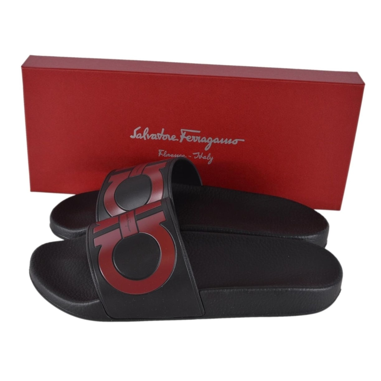c1086ef02 Shop Salvatore Ferragamo Men s GROOVE Gancini Logo Slides Sandals Shoes -  On Sale - Free Shipping Today - Overstock - 25458968