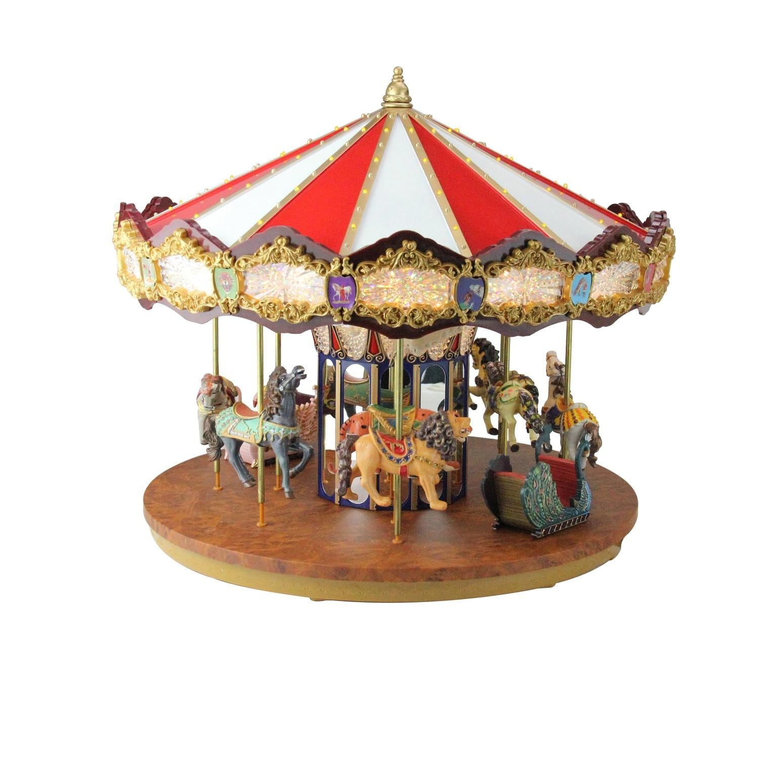 shop 14 lighted musical christmas carousel decoration multi free shipping today overstockcom 16548932 - Christmas Carousel Decoration