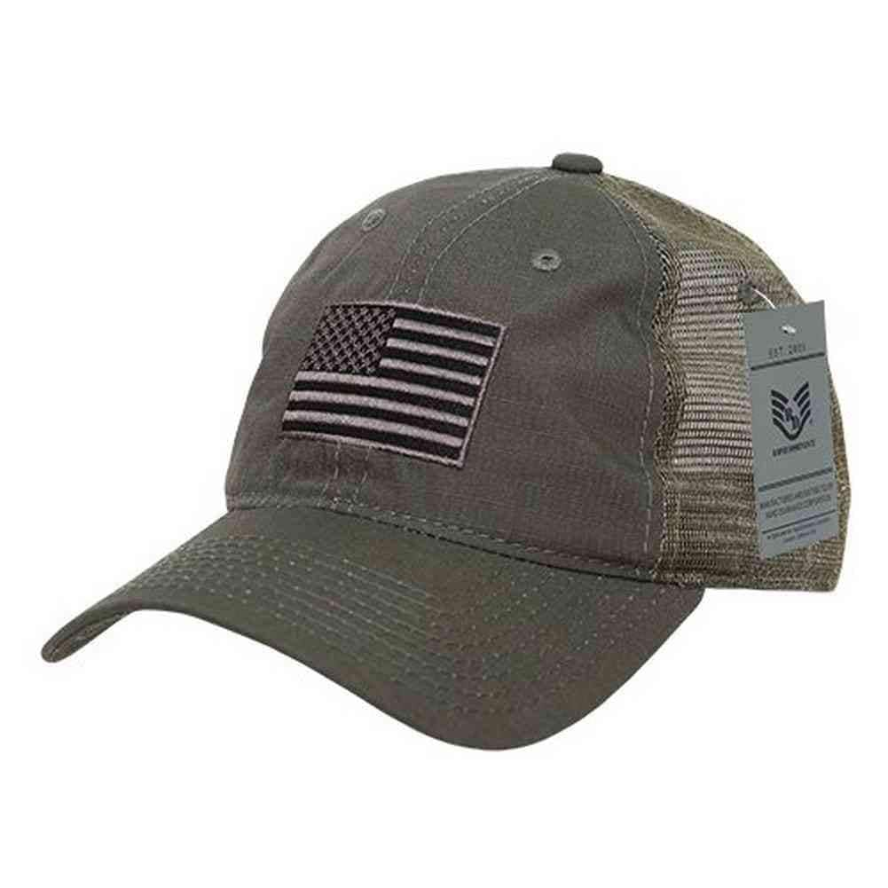 Shop Rapid Dominance Ripstop Men s Embroidered USA Flag Trucker Cap Hat A13  (Olive) - Free Shipping On Orders Over  45 - Overstock.com - 22357436 0092be3602e