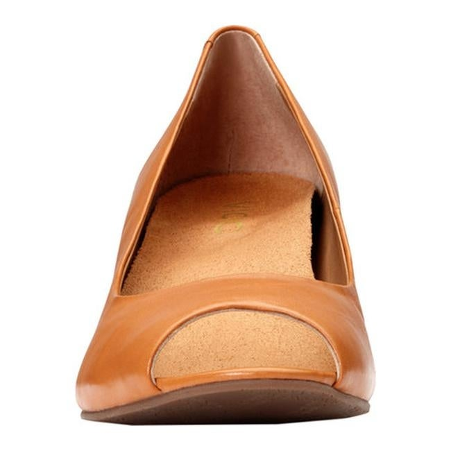 87a105be060 Shop Vionic Women s Bria Peep-Toe Wedge Caramel - Free Shipping Today -  Overstock - 18854009