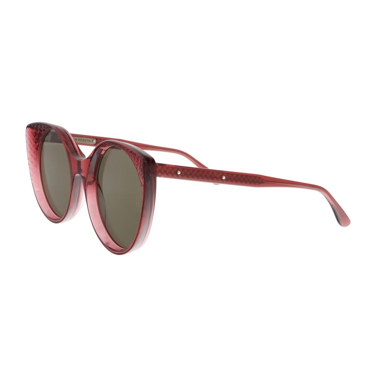 578f707ebd Shop Bottega Veneta BV0148S 004 Burgundy Cat Eye Sunglasses - On ...