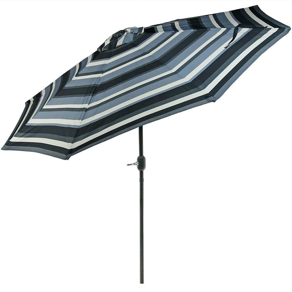 Sunnydaze 9-Foot Aluminum Patio Umbrella with Push Button Tilt u0026 Crank  sc 1 st  Overstock.com : aluminum patio umbrella - thejasonspencertrust.org