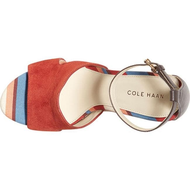 d597546725d Shop Cole Haan Women s Giselle High Espadrille Wedge II Sandal Cinnabar  Suede Java Leather - Free Shipping Today - Overstock - 21183031