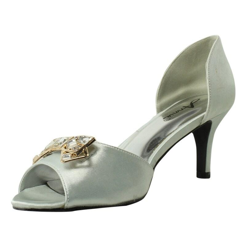 c1f816ede79 Shop New Annie Shoes Womens Latenight Silver Pumps Size 8.5 Wide (C ...