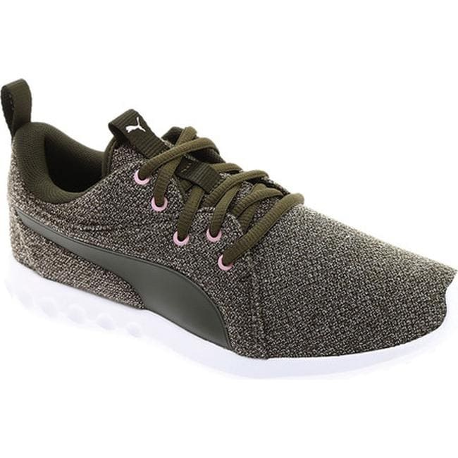 61bb7dcfd2d7 Shop PUMA Women s Carson 2 Knit NM Sneaker Forest Night Knit - Free ...