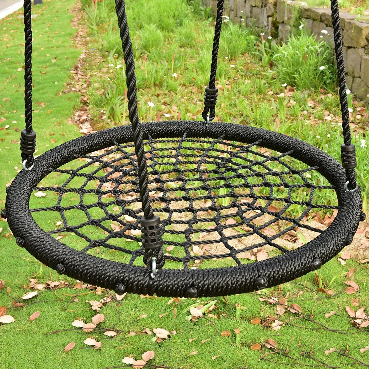 Costway 31 5 Kid Tree Round Swing Net Outdoor Garden Children Toddler Hanging Rope Nest Free Shipping Today 16637740