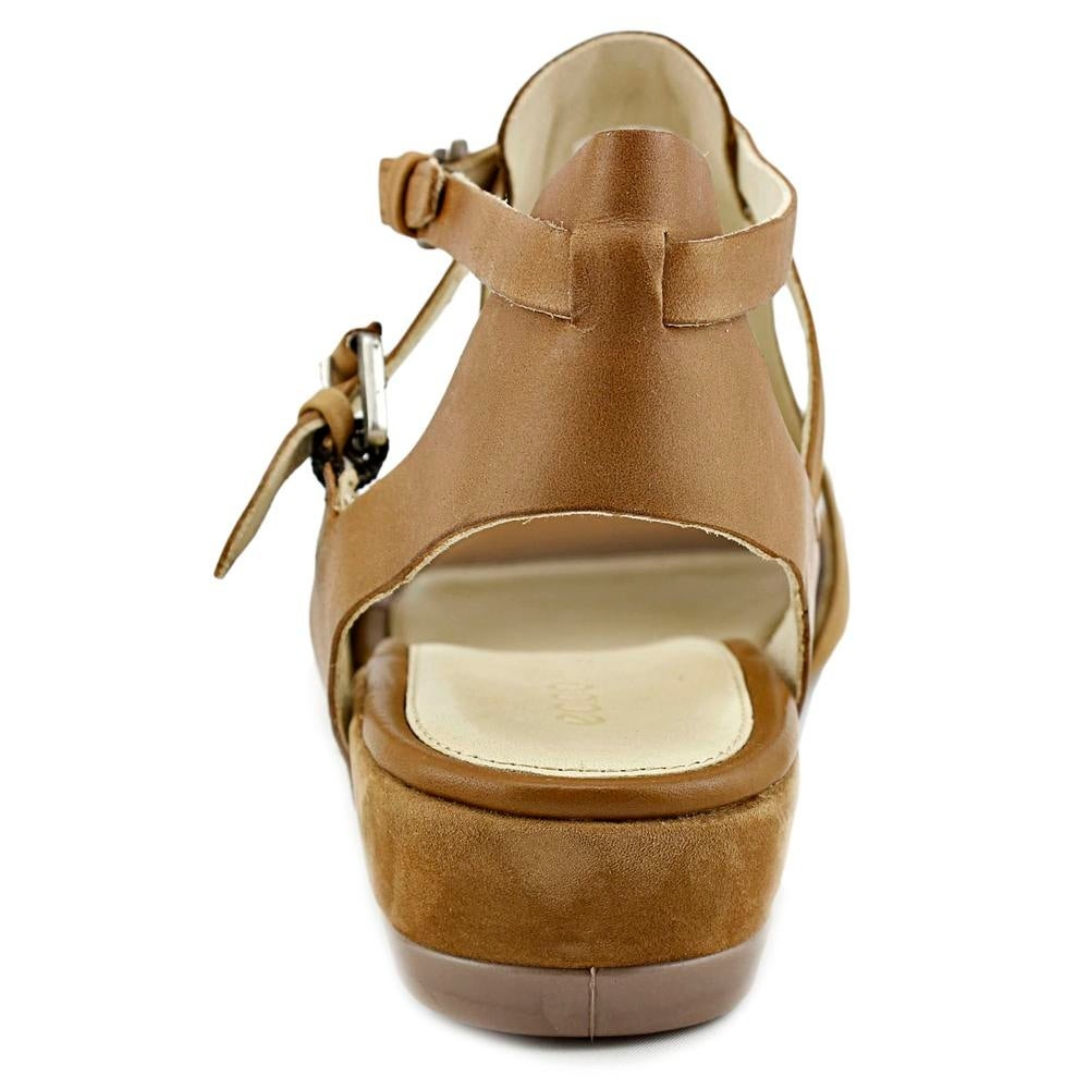 c3ec998e652 Shop Ecco Touch 25 S Women Open-Toe Leather Tan Slingback Sandal - Free  Shipping Today - Overstock - 17837542